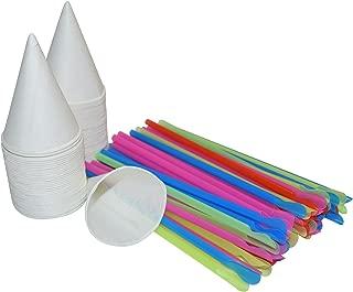 snow cone spoon straws