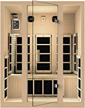 JNH Lifestyles MG301HCB MG317HB Far Infrared Sauna, 59 x 39.5 x 75 inches, Brown
