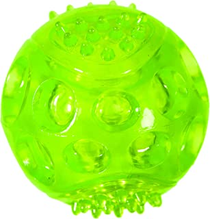 Chase 'n Chomp Durable TRP LED Light Up Fetch Ball Dog Toy, 3""