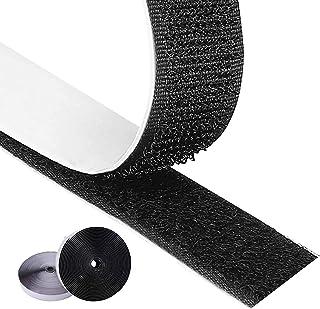 Foraco Klettband selbstklebend,8m Heavy Duty Klettband mit extra starkem doppelseitigem Kleber auf der Rückseite,Befestigungsklebestreifen für Zuhause, Büro Schwarz, 2cm8M