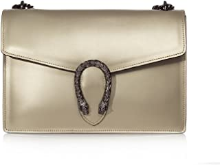 RONDA Italian Baugette clutch mini wallet cross body bag with nickel chain  smooth stiff leather and 250649ce4183b