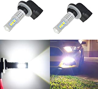 OPT7 5202 2504 Ultra Glow LED Fog Light Bulbs Pack of 2 Free Warranty 6000K Lighting White @ 1,400 Lm per Bulb