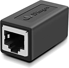 RJ45 Coupler in-Line Coupler Cat7 Cat6 Cat5 Cat5e Network Cable Extender Adapter, Support 100BASE-TX (1 Pack)