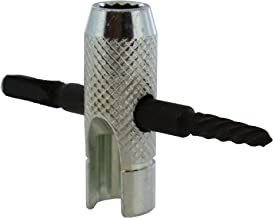 ABN Grease Fitting Tool - 4 Way Grease Fittings Tool Easy Out Zerk Fitting Tool for Damaged Grease Zerks and Fittings
