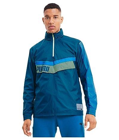 PUMA Train Woven 1/2 Zip Jacket (Digi Blue/Nrgy Blue/Fizzy Yellow) Men