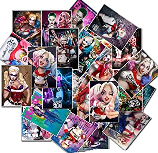 25pcs Laptop Stickers, Cool Vinyl Computer Waterproof Water Bottles Skateboard Luggage Decal Graffiti Patches Decal (Harley Quinn)