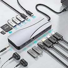 Hub USB C,Estación de Acoplamiento 14 en 1 con Triple Pantalla Tipo C para Computadora Portátil con 2 HDMI,DP,PD,Puerto US...
