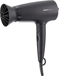 PHILIPS BHD308/13 Dryer 3000 Airflower Thermoprotect Hair Dryer (1600W) Black foldable
