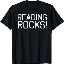 READING ROCKS Funny Book Reader Library Nerd Gift Idea T-Shirt