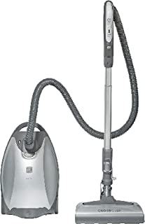 Kenmore Elite 21814 Pet Friendly CrossOver Lightweight Bagged HEPA Canister Vacuum with Pet PowerMate, Extended Telescoping Wand, Retractable Cord, 2 Floor Nozzles, and 4 Cleaning Tools-Silver/Gray