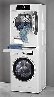 wpro SKS101: Zwischenbau-Verbindungsrahmen mit Ablage für Waschmaschinen-Trockner-Säule, 60 × 60 cm