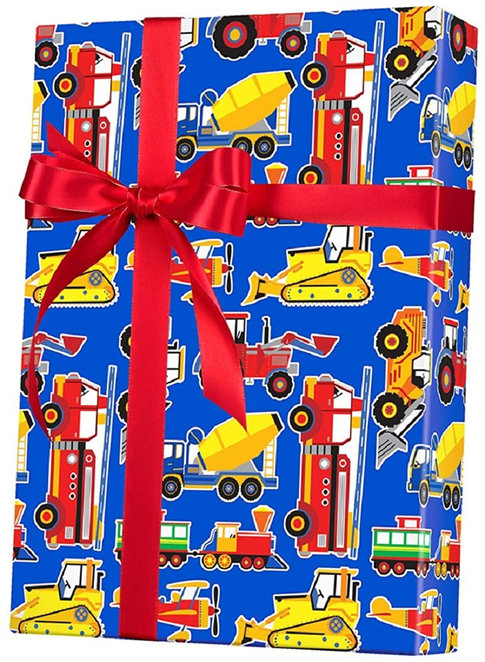 Toy Trucks Big Rig Rolled Gift Wrap Paper - 24