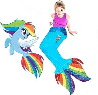 My Little Pony Seapony Blanket in Rainbow Dash - Beautiful MLP Rainbow Dash Design with Cutie Mark for Rainbow Dash Fans