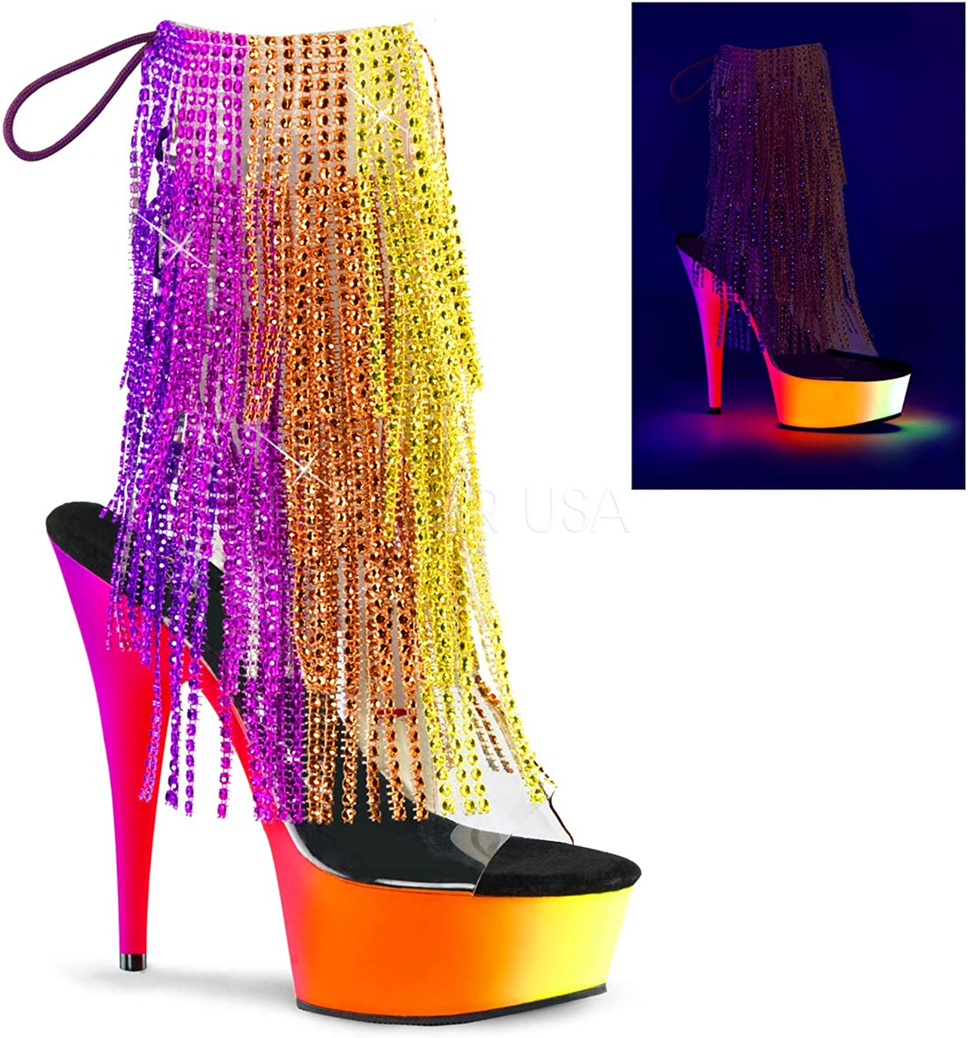 Pleaser Women's Rainbow 1017RSF-6 Synthetic Ankle Boots