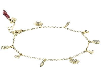 SHASHI Tori Charm Bracelet (Gold/Vermeil) Bracelet