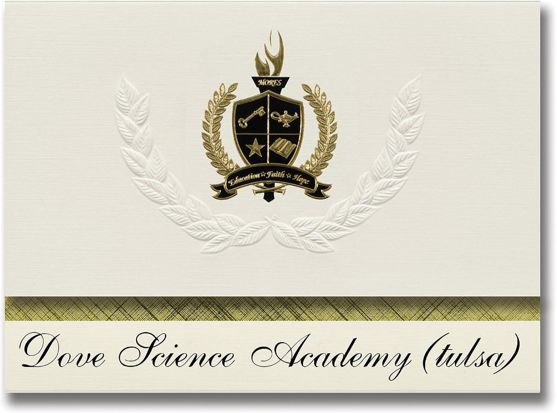 Signature Ankündigungen Taube Wissenschaft Academy (Tulsa) (Tulsa, OK) Graduation Graduation Graduation Ankündigungen, Presidential Stil, Elite Paket 25 Stück mit Gold & Schwarz Metallic Folie Dichtung B078VCRWL5   | Genial  2d9349