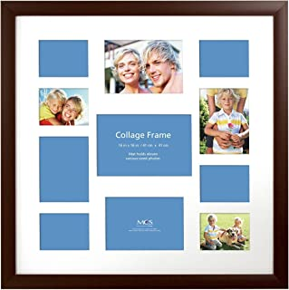 MCS 16x16 Inch Collage Frame with 11 Openings, Espresso (48476)