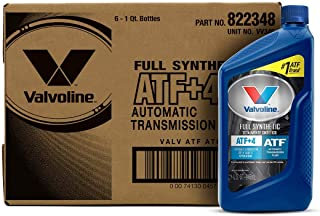 Valvoline ATF +4 Full Synthetic Automatic Transmission Fluid 1 QT, Case of 6