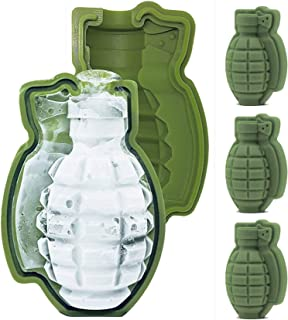 Sponsored Ad - HINMAY Grenade Ice Cube Mold Silicone Grenade Chocolate Cake Mold, Set of 4