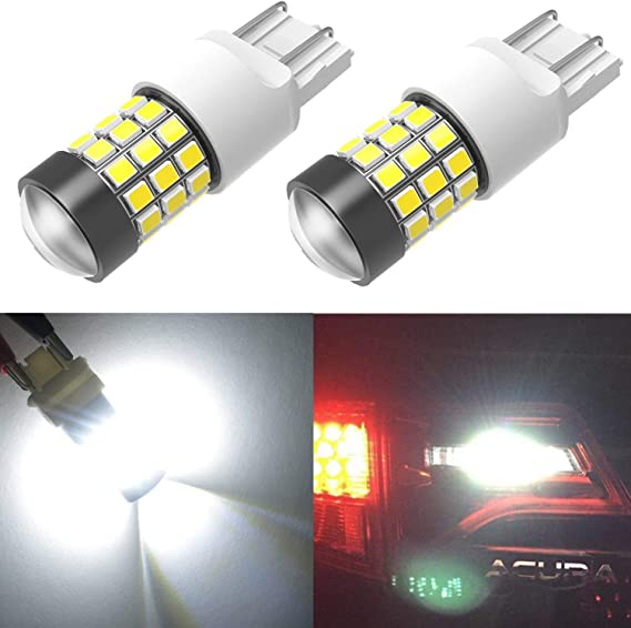 ANTLINE Extremely Bright 7443 7440 T20 7441 992 W21W 21-SMD 2835 Chipsets 1260 Lumens LED Bulb Replacement Brilliant Red for Car Brake Tail Turn Signal Blinker Lights Bulbs (Pack of 4)