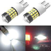 Alla Lighting T20 7443 7440 LED Strobe Flashing Brake Lights Bulbs Super Bright 2835 SMD 12V Dual Filament 6000K Xenon White Blinking Stop Lights for Cars, Trucks 7441 7444 7442