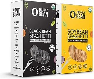 The Only Bean - Organic Soy and Black Bean Spaghetti Pasta - High Protein, Keto Friendly, Gluten-Free, Vegan, Non-GMO, Kos...