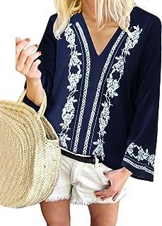 YOINS Camicia Donna T-Shirt Casuale Camicetta Maniche Corte Estive Magliette in Piega con Bottoni Blusa Top Elegante