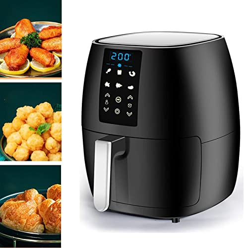 wholesale 5.8-Quart Electric Air Fryer with Grill Shelf and Recipes Book, LCD outlet sale Digital Touchscreen with 6 Cooking Functions, Adjustable Temperate and wholesale Time, Auto Shut Off, Perfect for Air Frying, Baking, Roasting sale