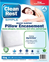 Clean Rest SimpleWater-Resistant, Allergy and Bed Bug Blocking Pillow Encasement, King