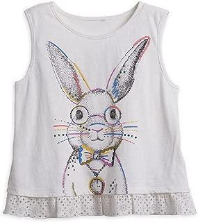 Girls' Big' Alice in Wonderland Rabbit Ruffle Tank