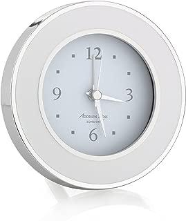 White & Silver Enamel Round Alarm Clock
