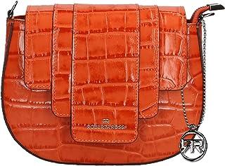 Roberta Rossi Borsa da donna in vera pelle Autunno Inverno Stampa coccodrillo fatta a mano in Italia, 21x17x7 cm. Made in ...