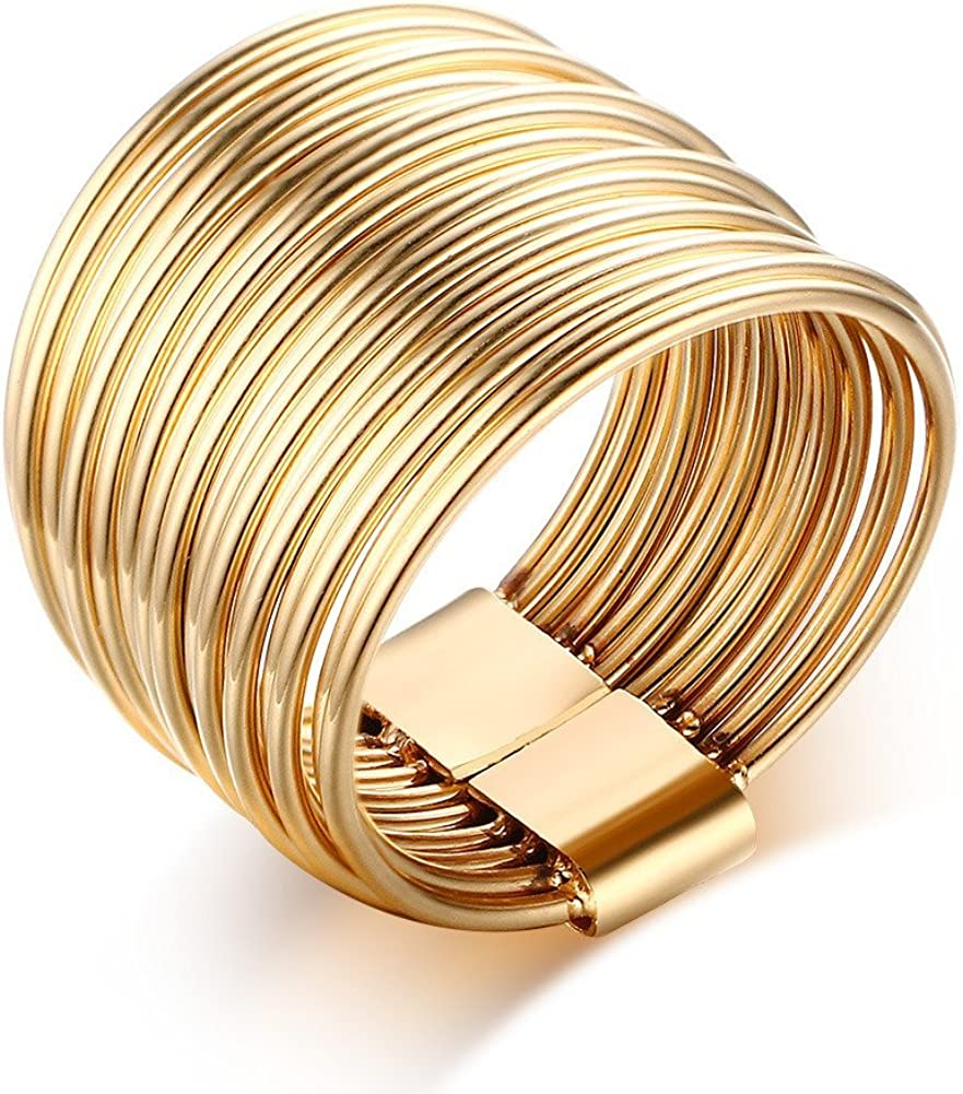 VNOX overseas Stainless San Antonio Mall Steel Wrap Ring Promise Women Wedding for Engagem