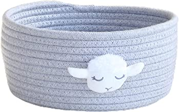 djim45aoy Storage Box Animal Featured Delicate Animals Hand Woven Storage Basket for Kid Purple L