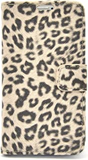 Apexel Leopard PU Leather Wallet Flip Case for Samsung Galaxy S5 - Frustration-Free Packaging - Grey