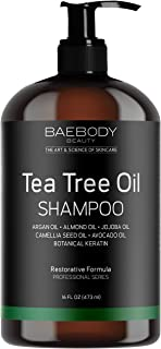 Baebody Tea Tree Oil Shampoo for Dandruff, Dry Hair & Itchy Scalp, 16 Ounces