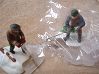 Department 56 Heritage Village Collection ; New England Village Blue Star Ice Harvesters Set of 2 ; 1993 Retired ; Handpainted Porcelain Accessories #5650-2