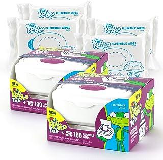 Kandoo Flushable Wipes - 100 Count Tub (Pack of 2)
