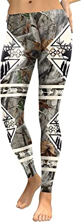 9c34aaaa7f207 mwbay Womens Elk Antlers Arrow of Lucky Galaxy Print Tight Leggings S-XL