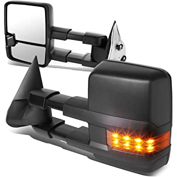 1 Pack Driver and Passenger Sides DNA MOTORING TWM-030-T666-BK-AM Towing Side Mirror