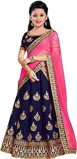Ethnos Fashion LEHENGA CHOLI FOR GIRLS 9-13 YEARS | Kids Lehenga Bridal Wear | Semi Stitched Lehanga Cholis | fabric Taffe...