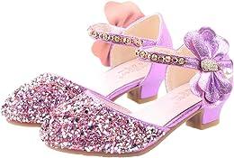 YOSICIL Chaussures de Princesse pour Fille avec Pa