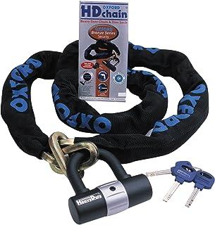 Oxford OF157 HD Chain Heavy Duty Lock-Black, 1.0 m, 1 Metre
