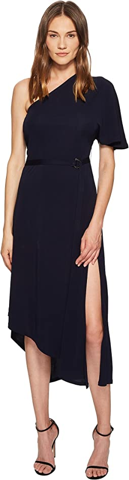 Matte Jersey One Shoulder Asymmetric Dress
