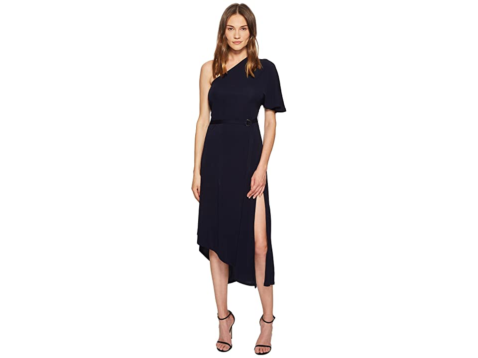 YIGAL AZROUEL Matte Jersey One Shoulder Asymmetric Dress (Night) Women