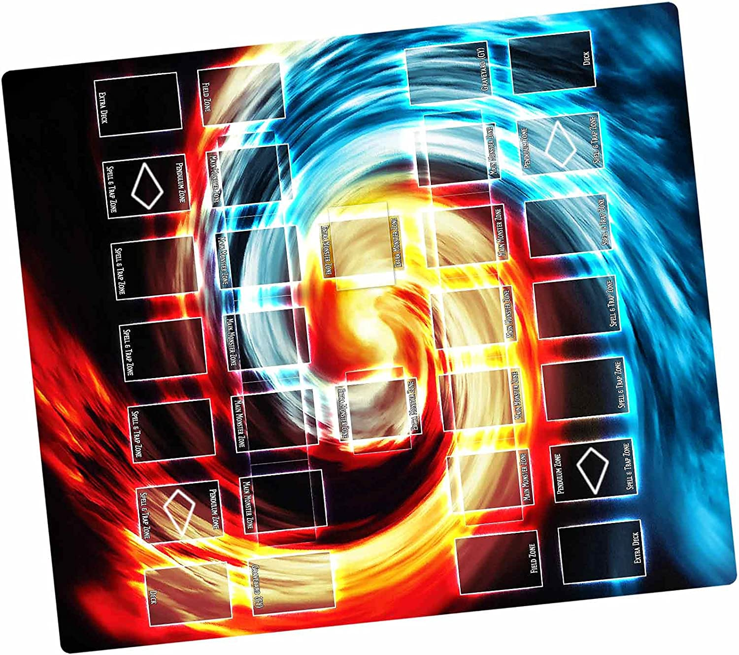 Paramint Super intense SALE Dual Chaos - Yugioh Compatible Playmat Yu-Gi-Oh Sales for