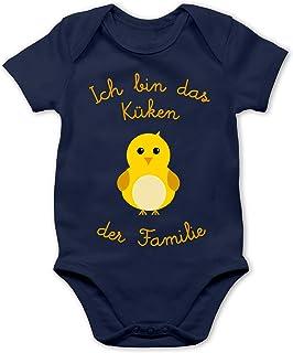 Shirtracer - Sprüche Baby - Küken der Familie - Baby Body Kurzarm für Jungen und Mädchen