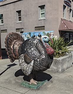Photograph - A fat, though faux, turkey in Edgefield, South Carolina- Fine Art Photo Reporduction 32in x 44in