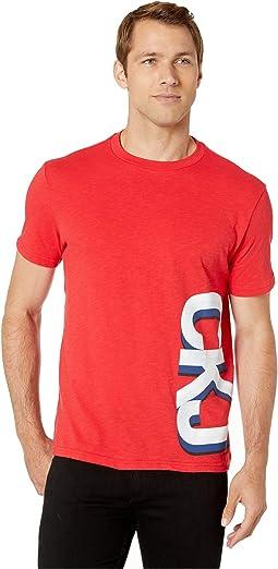 Short Sleeve Retro Athleisure Side Logo T-Shirt