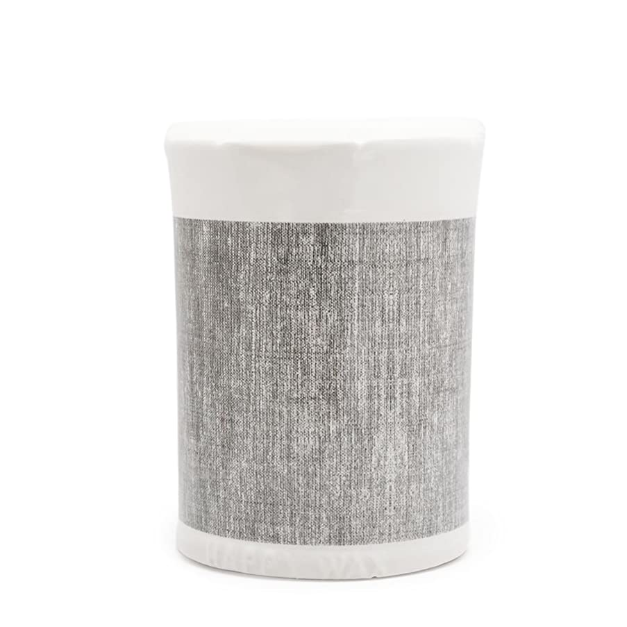 Happy Wax - Classic Wax Melt Warmer in Gray Linen - Perfect Electric and Decorative Ceramic Wax Melter or Warmer for Scented Wax Melts, Cubes & Tarts! (Melts not Included)